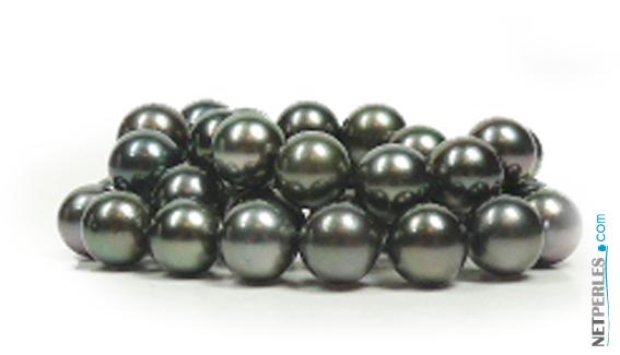 Collier de perles noires de tahiti, perles de culture, perles du pacifique