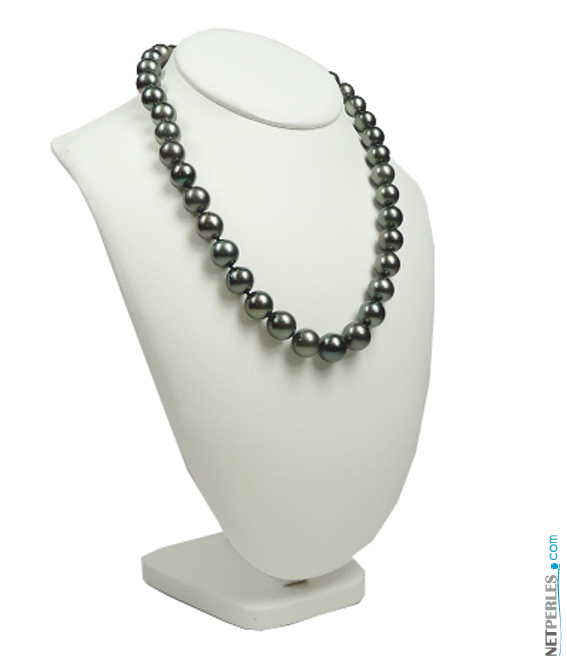 Collier de perles de tahiti, perles noires, perles de culture