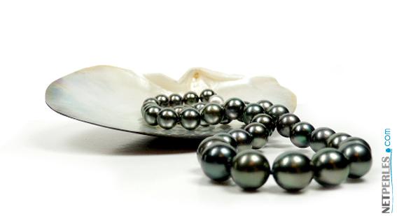 bijou de luxe, collier de perles, perles noires, perles de tahiti
