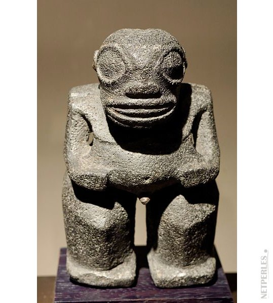 TIKI statue symbole de la Polynesie Française où sont cultivées les perles de Tahiti