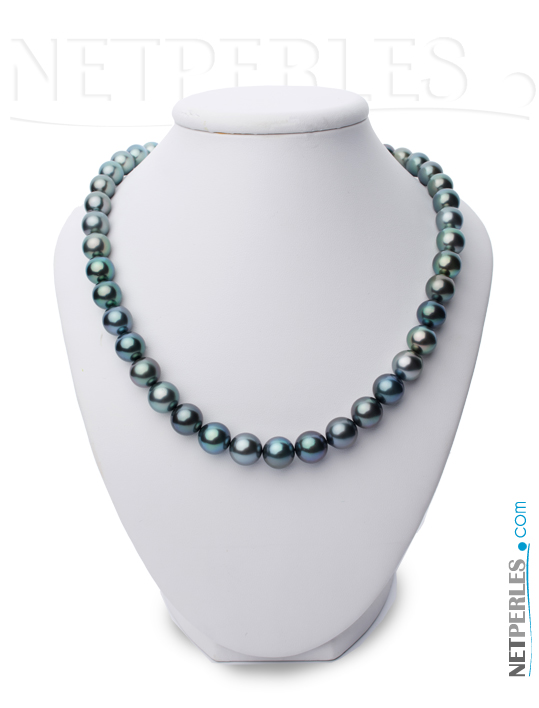 Collier de perles de tahiti très haut de gamme, qualité AAA