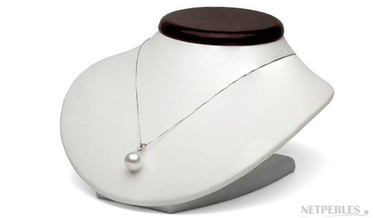 Pendentif Vivian avec perle blanche baroque d'australie