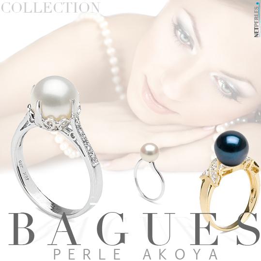 BAGUES avec perle akoya