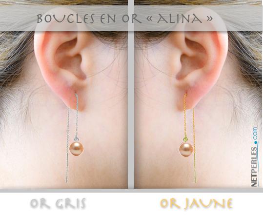Chaines et perles  pour boucles d'oreilles, bijou tres mode,