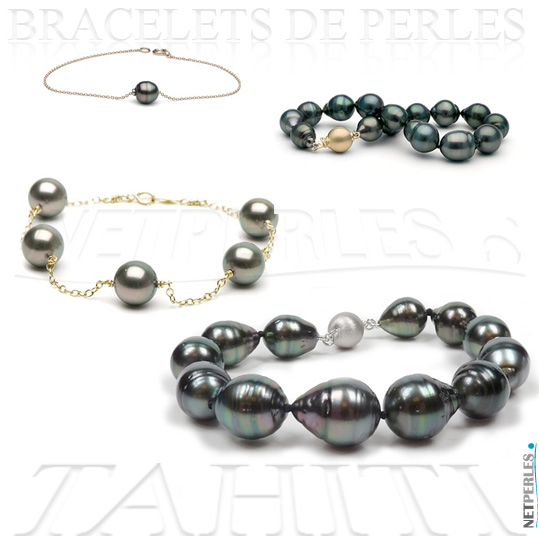 bracelets perles de tahiti perles de tahiti perles noires bracelets de perles bracelets. Black Bedroom Furniture Sets. Home Design Ideas