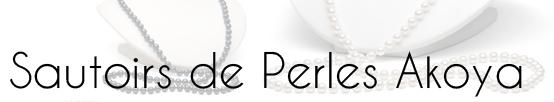 Sautoirs de perles Akoya - long colliers de perles de culture du japon