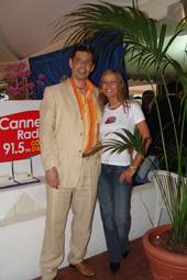 Jean Gautier (Netperles) & Maryse Agaesse (Cannes Radio) ont tout fait pour que la fête soit belle. Selon les rumeurs tout le monde est reparti plus heureux qu'en arrivant