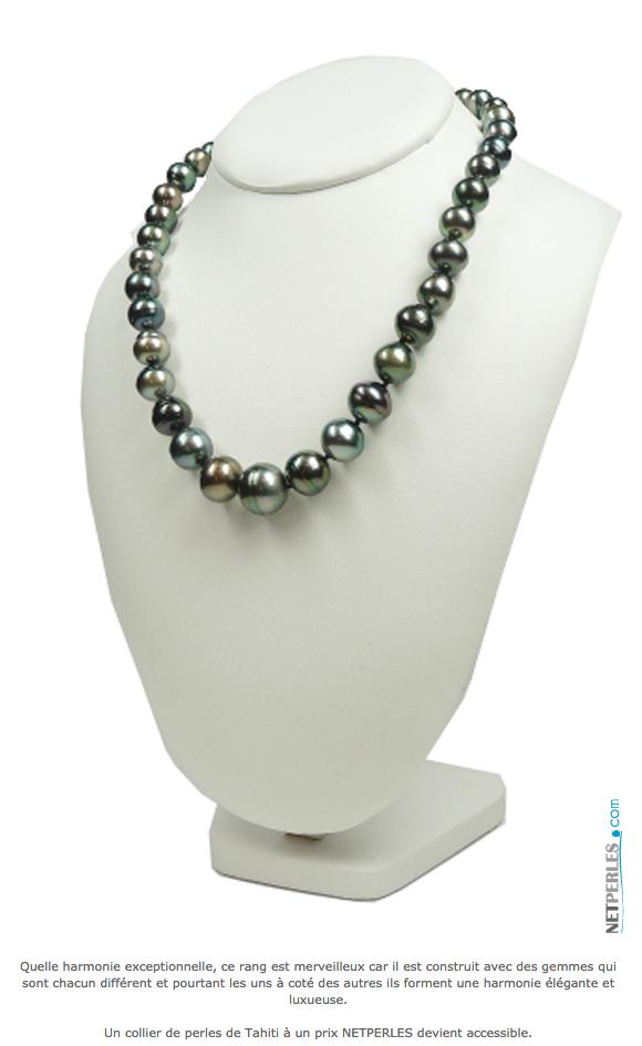 Collier en perles de Tahiti