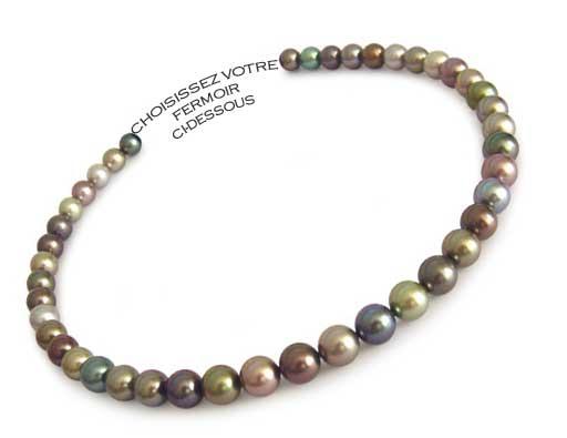 Collier Perles De Tahiti Perle Noire De Tahiti Bijouterie Perle