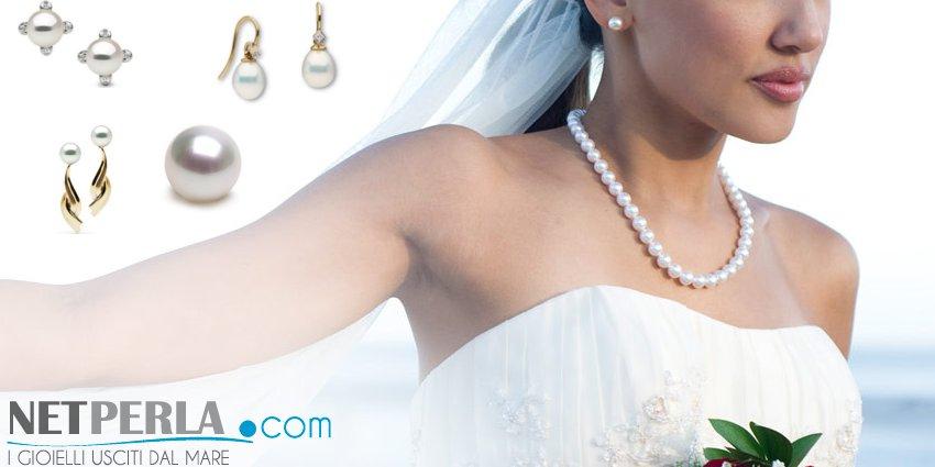 Perles le jour du mariage