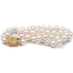 "Belle AAAA 6-6.5MM blanc naturel Akoya Collier de perles 17/"""