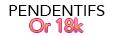 Pendentifs Perles or 18k