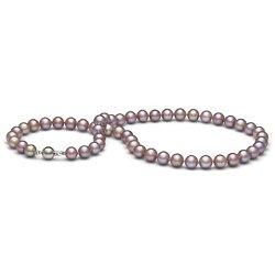 Collier 45 cm de perles de culture d'eau douce Lavande 9 à 10 mm