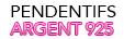 Pendentifs Argent Perles