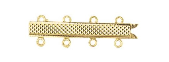Fermoir en Or 18 carats pour collier 4 rangs