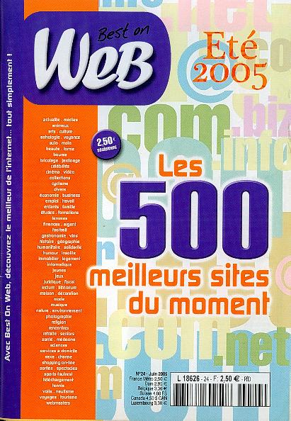 Magasine Web 500 edite sa selection des 500 meilleurs sites web du moment.
