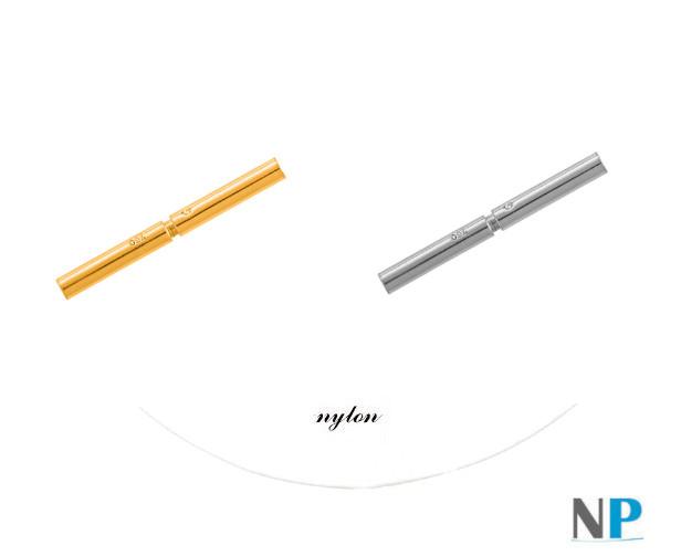 Fermaglio in oro 18 carati a baionetta per filo di nylon