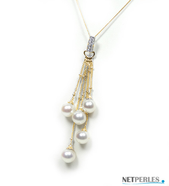 Collier Pendentif en perles Akoya du Japon