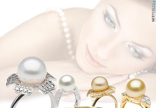 bague or et perle d'australie