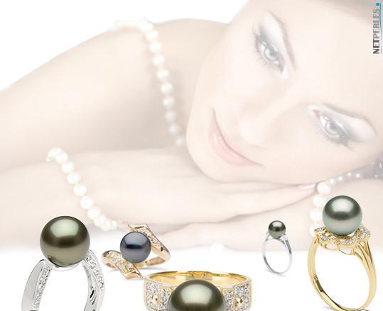 Bague perle de tahiti - bague or