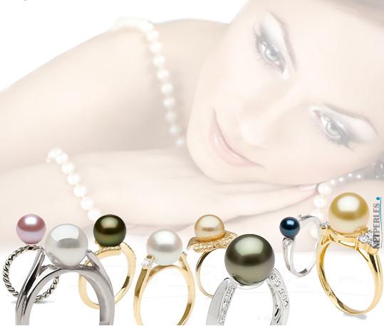 Anelli con perle | Perle di coltura su anelli | anelli oro e argento con perle | perle e diamanti