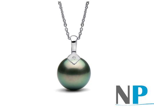 Ce bijou très élégant, une perle de Tahiti de qualité AAA haut de gamme!