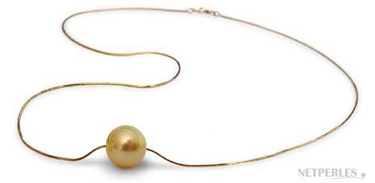 pendentif perle doree d'australie