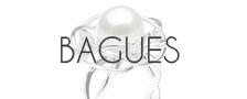 Bagues perles d'australie - bague perle doree - bague perle blanche argentee