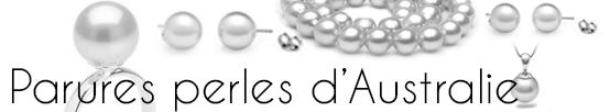 Parures de perles d'australie