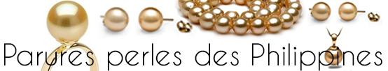 Parures de perles dorées des Philippines