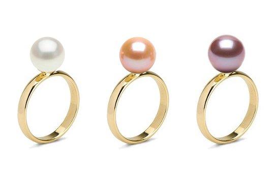 bague perle d 39 eau douce doucehadama bague or jaune ou gris 14 carats et perle de culture. Black Bedroom Furniture Sets. Home Design Ideas