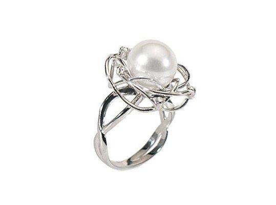 Bague SOLEIL avec perles d'Australie et diamants