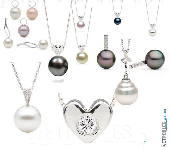 Bijoux en Argent massif avec perles de culture en provenance directe des fermes perlières