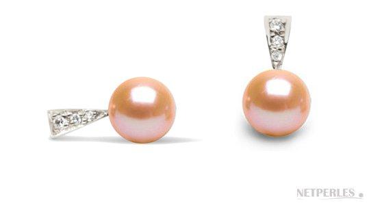 Boucles d'oreilles en Argent avec perles DOUCEHADAMA Pêches