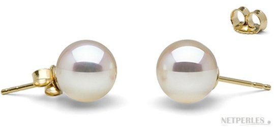 boucles d'oreilles de perles de culture d'eau douce blanches de gros diametres 9,5 à 10 mm qualité DOUCHEDADAMA