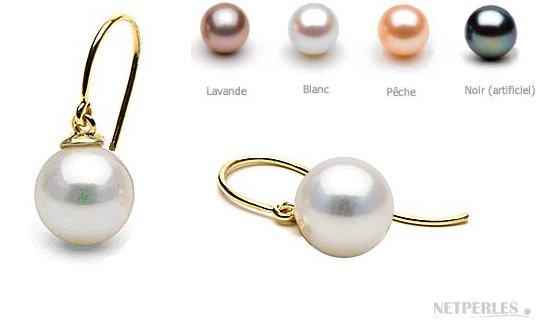 Boucles d'oreilles Shep avec perles de culture d'eau douce