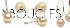 Boucles d'oreilles de perles dorées