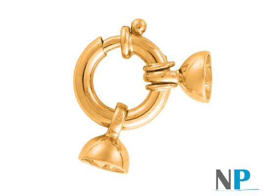 Fermoir Bouée en Or 18 carats pour collier de perles