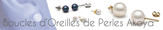 Boucles D'oreilles de perles de culture d'Akoya