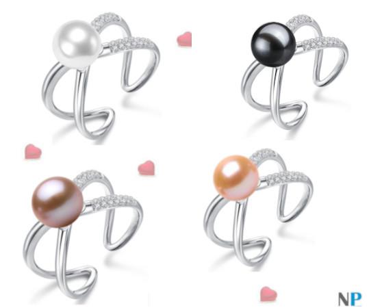 Bague en Argent 925 avec les perles de 4 couleurs pour vous aider dans votre choix!