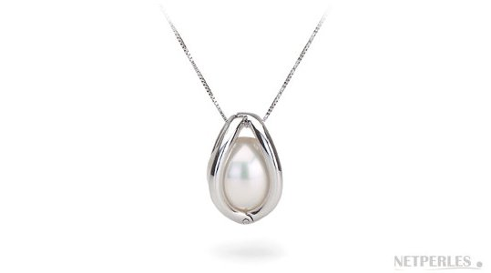 Qui presentata con una perla Ausraliana bianca (perla non inclusa in questo prodotto)