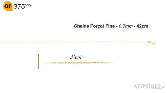 Chaine fine maille forçat Or 9k
