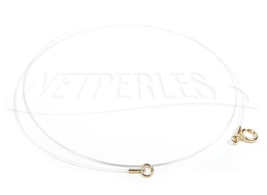 Cable bijou, ras de cou invisible fermoir en or jaune 18 carats