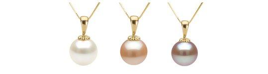 Pendentif Classique avec perles Eau Douce en Or 18k