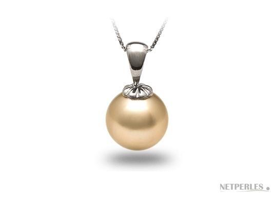 pendentif de perle de culture d'australie