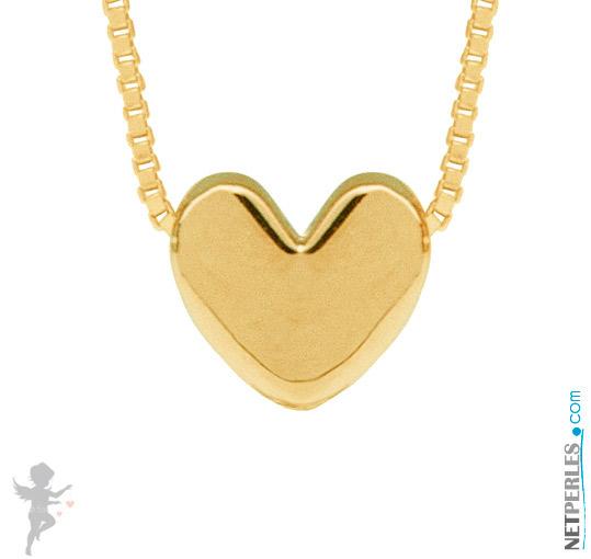 Pendentif coeur Or Jaune 14 carats