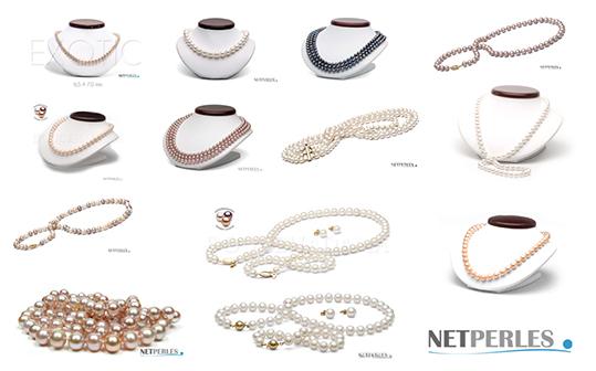 Collection colliers de perles d'eau douce - beaucoup de possibilites