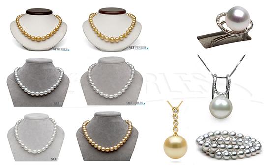 Gioielli di grande valore con le perle Australiane - le più lussuose perle di coltura