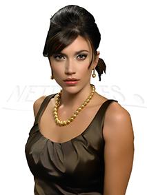 Collane di perle dorate - perle di grande diametro - perle autentiche - perle delle filippine- netperla