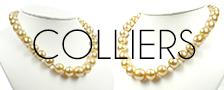 Colliers de perles dorées des Philippines